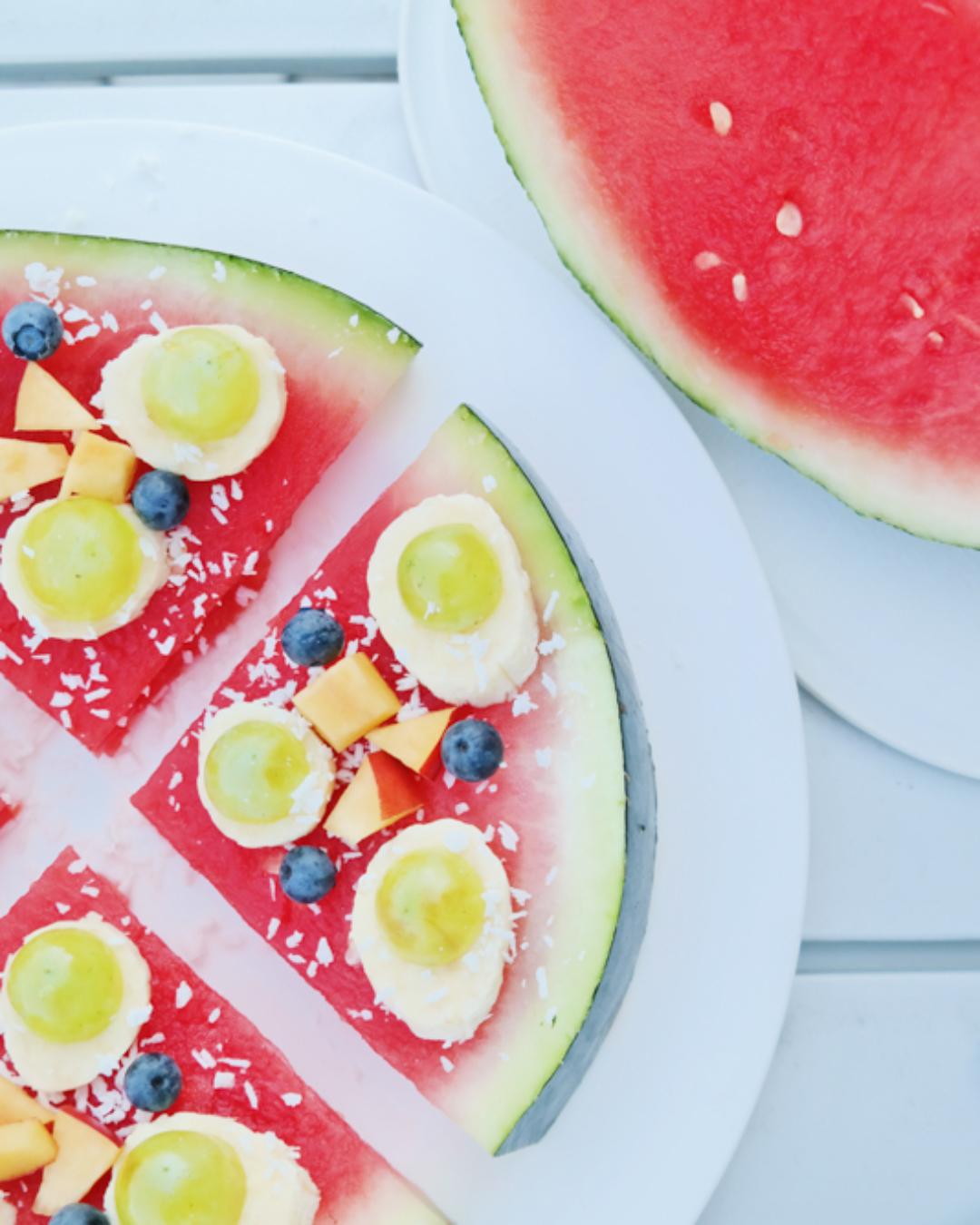 Sommersnack: (Wasser-) Melonen Pizza