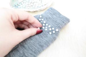 therubinrose-Blog München-Modeblog München-blog-münchen-beauty-diy-Handschuhe-verzieren-Perlen-Nieten-selber machen-einfach-selbst machen-selbst basteln-basteln-winter