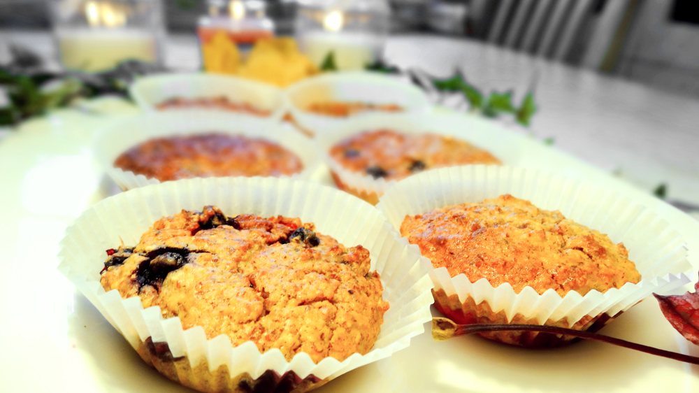 Rezept: Gesunde Beeren Muffins