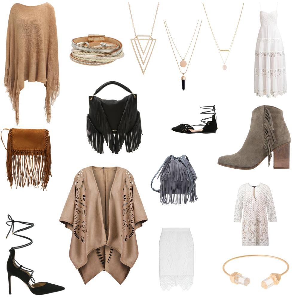TheRubinRose-Fashion Blog-Mode Blog-München-Munich-Berlin-Germany-Deutschland-Zalando ADVIZE-Boho Look-Coachella-Boho-Bohemian-Fransen-Poncho-Gladiatoren Sandalen-Fransen Tasche-Goldschmuck-Weste