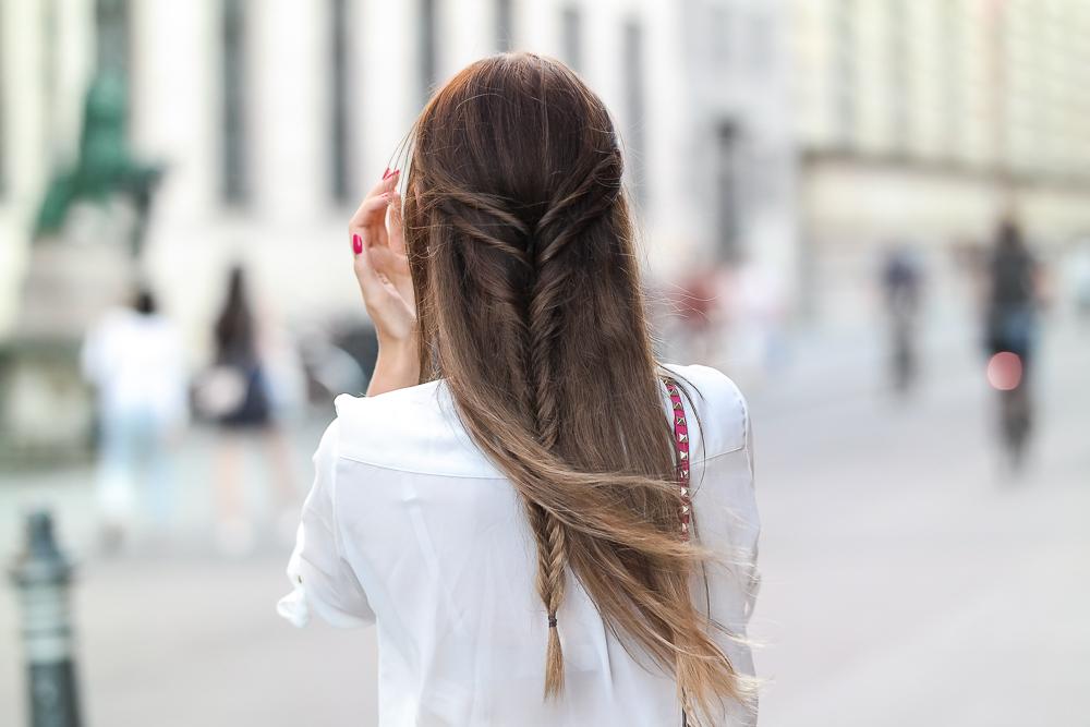 Balayage Haare Frisur geflochten