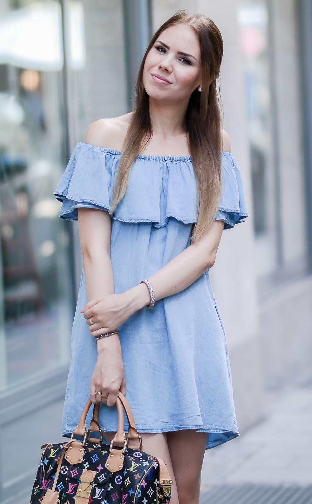 Zara Kleid Off Shoulder Trend