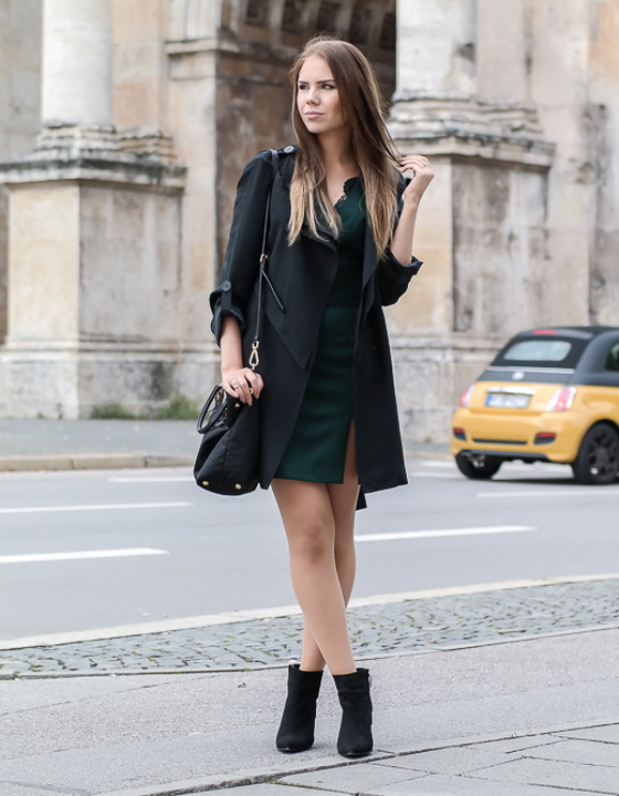 Cocktailkleid & Stiefeletten – eleganter Herbst Look