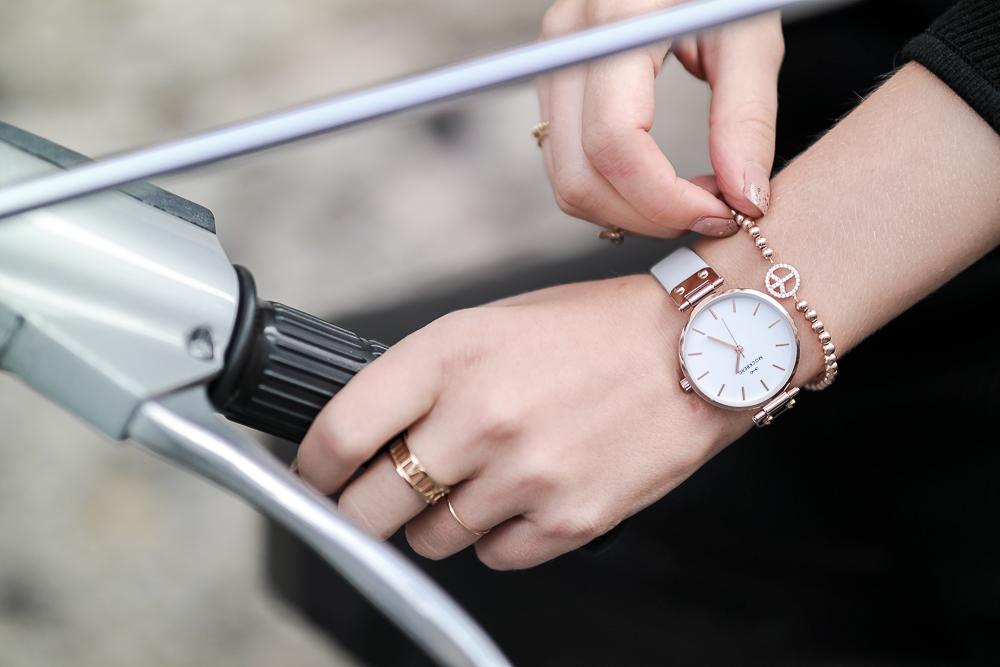 Mockberg Uhr rosegoldenes Armband