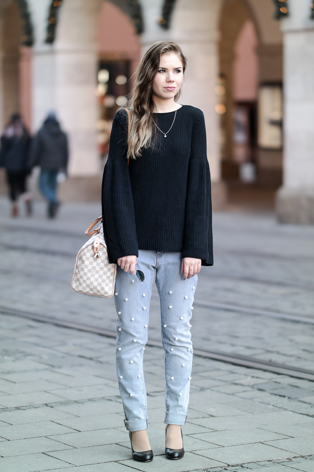 Denim Jeans Pumps Pullover