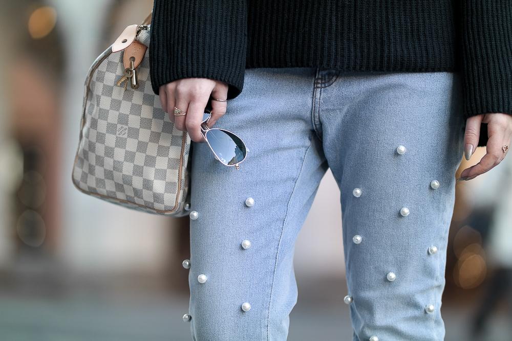 Perlen Jeans Details