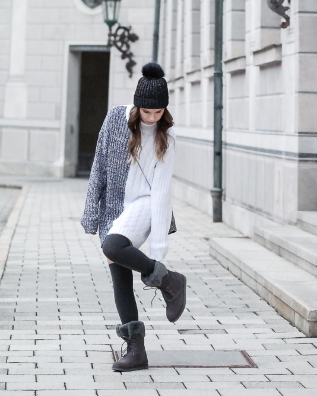 Winter Look: Pulloverkleid & EMU Stiefel