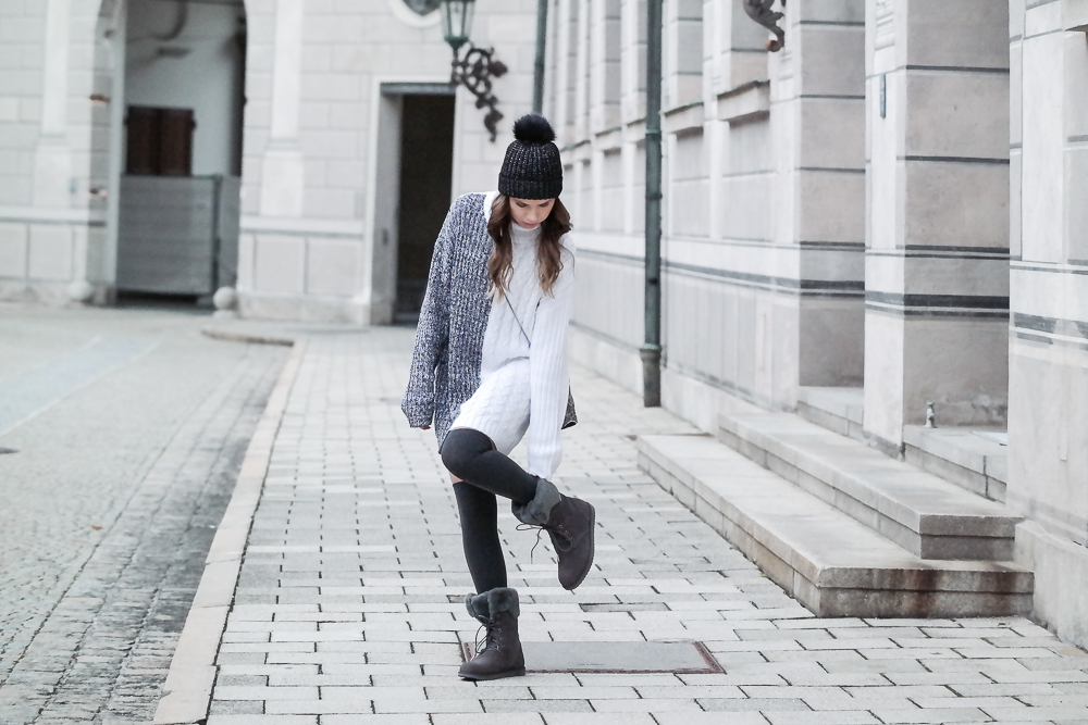 Pullover Kleid Winter Look