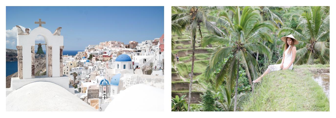 Santorini und Bali