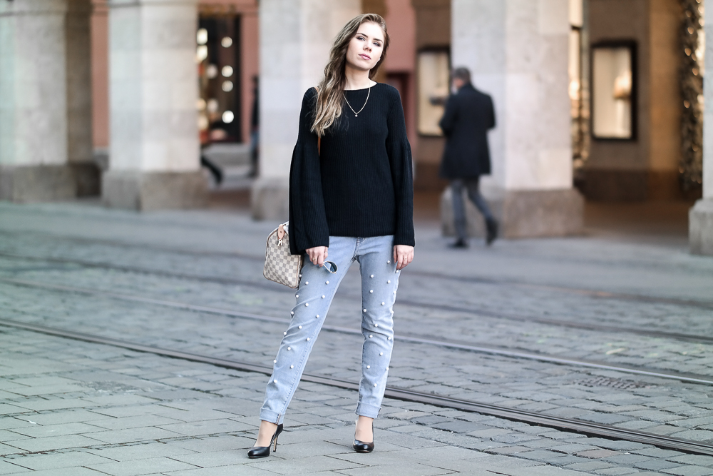 DIY: Perlen Jeans selber machen + OOTD