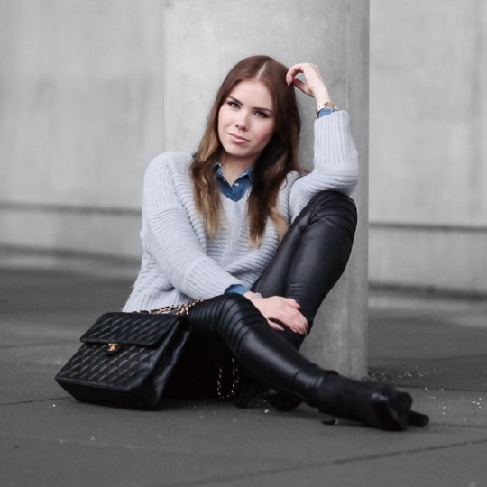 Casual Streetstyle Look w/ Chanel Double Flap Bag