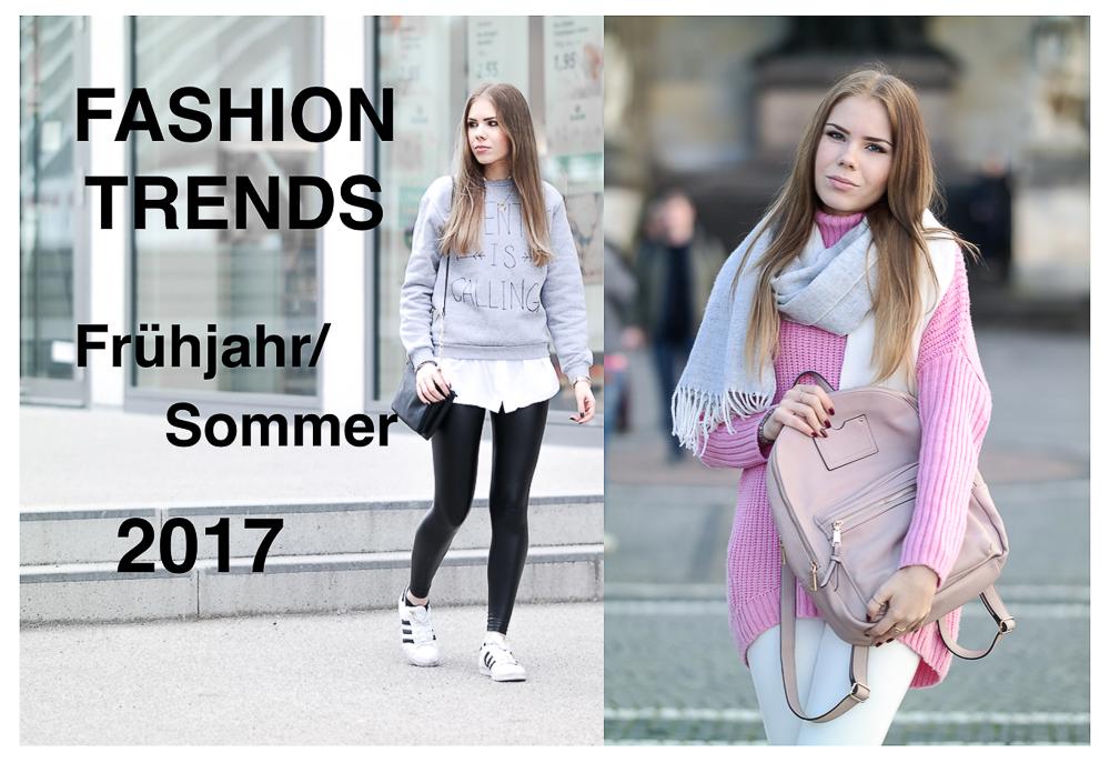 Fashion Trends Frühjahr Sommer 2017 -Streifen-Vichy Karos-80er-Blumen Prints-Taillengürtel-Fuchsia-Tshirt Spruch