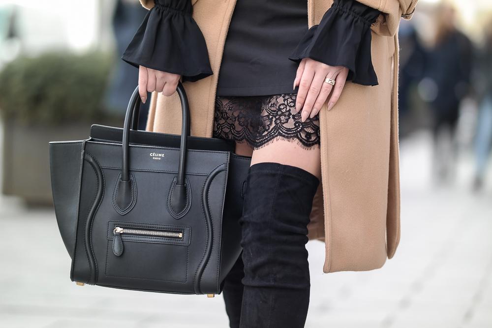 Nur-Die-Strumpfhose-Wie-eine-zweite-Haut-Amber-nude-Spitzenrock-Celine-Tasche-Trompetenärmel-Overknee-Stiefel