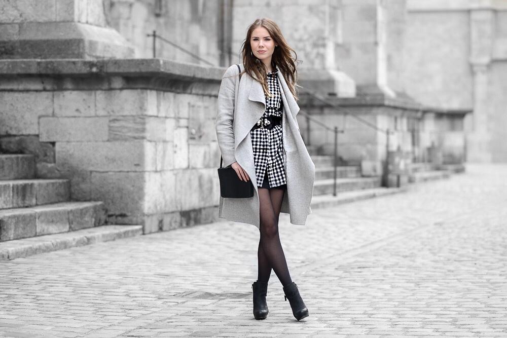 Karo Fashion Trend: Hemdkleid mit Karomuster