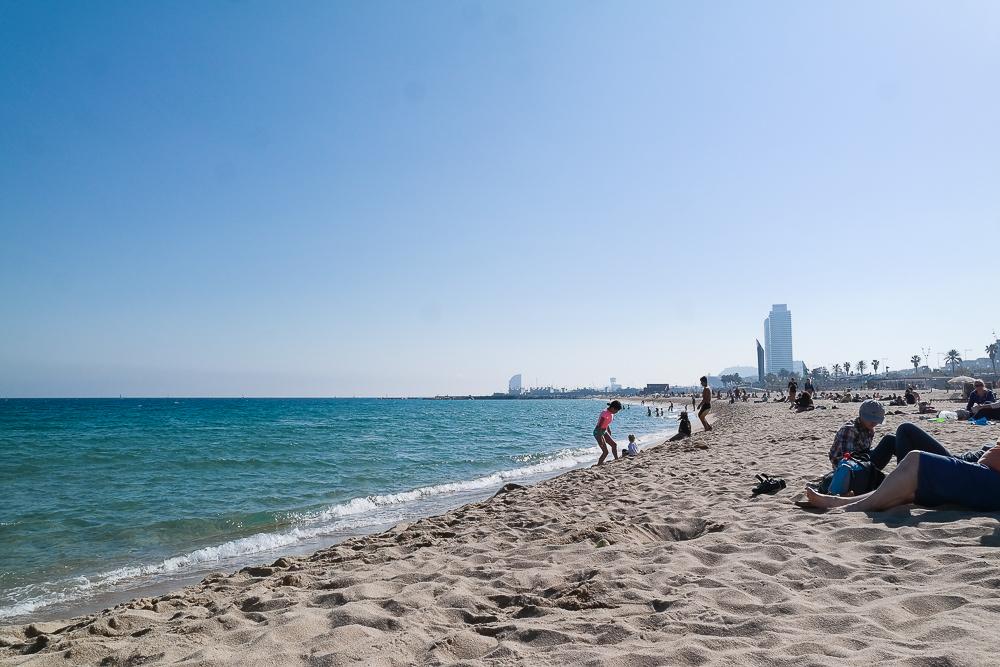 Barceloneta-Strand-Meer