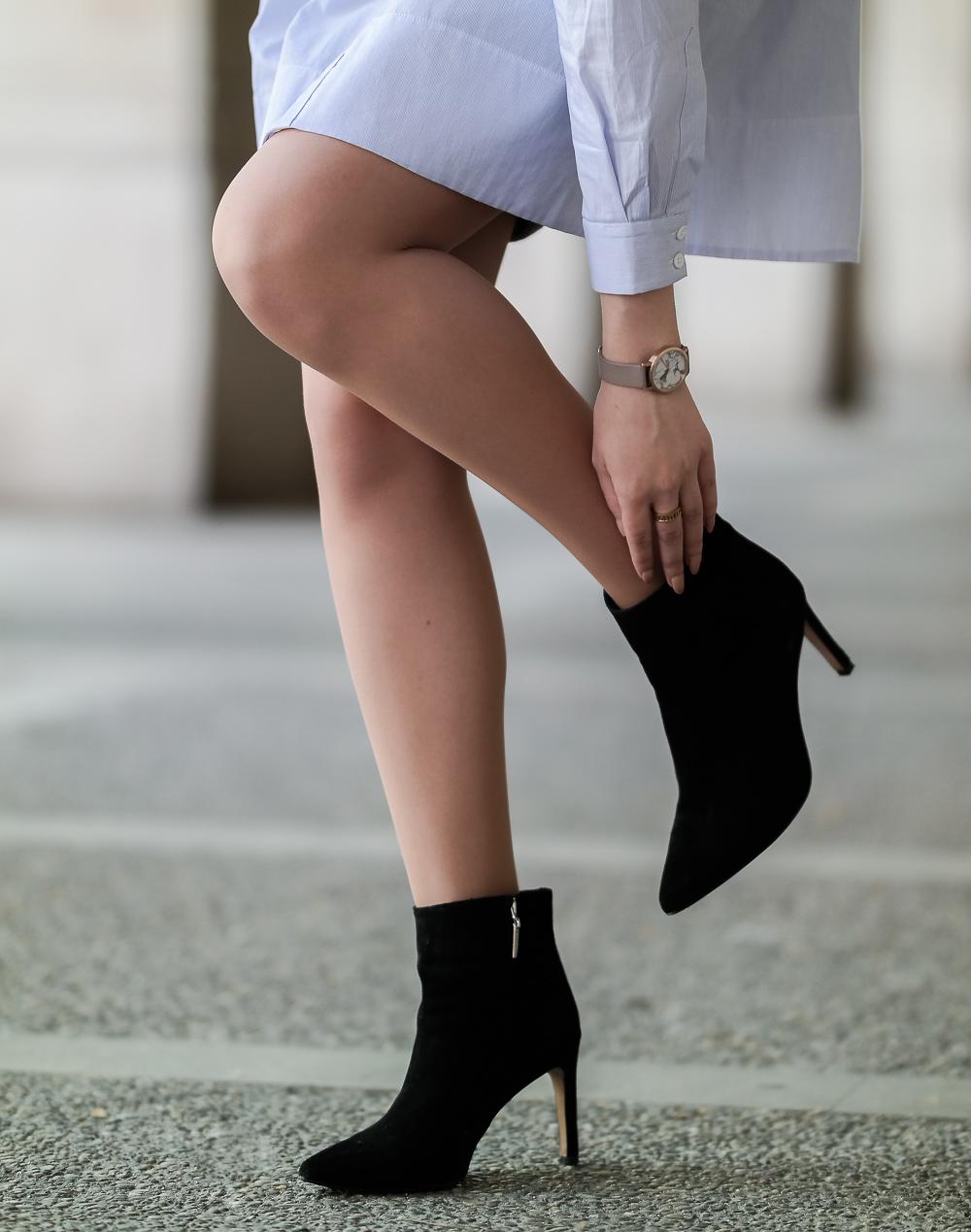 Modeblogger-hohe-Stiefeletten-schwarz-Uhr-Detailfoto