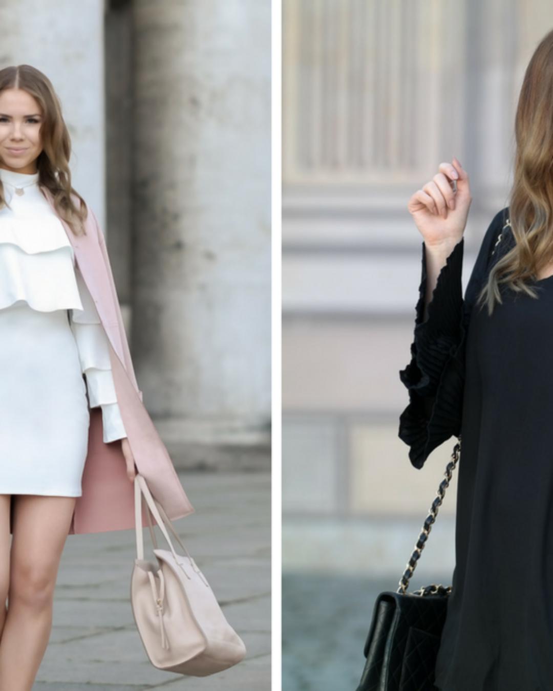 Weißes oder schwarzes Sommerkleid?