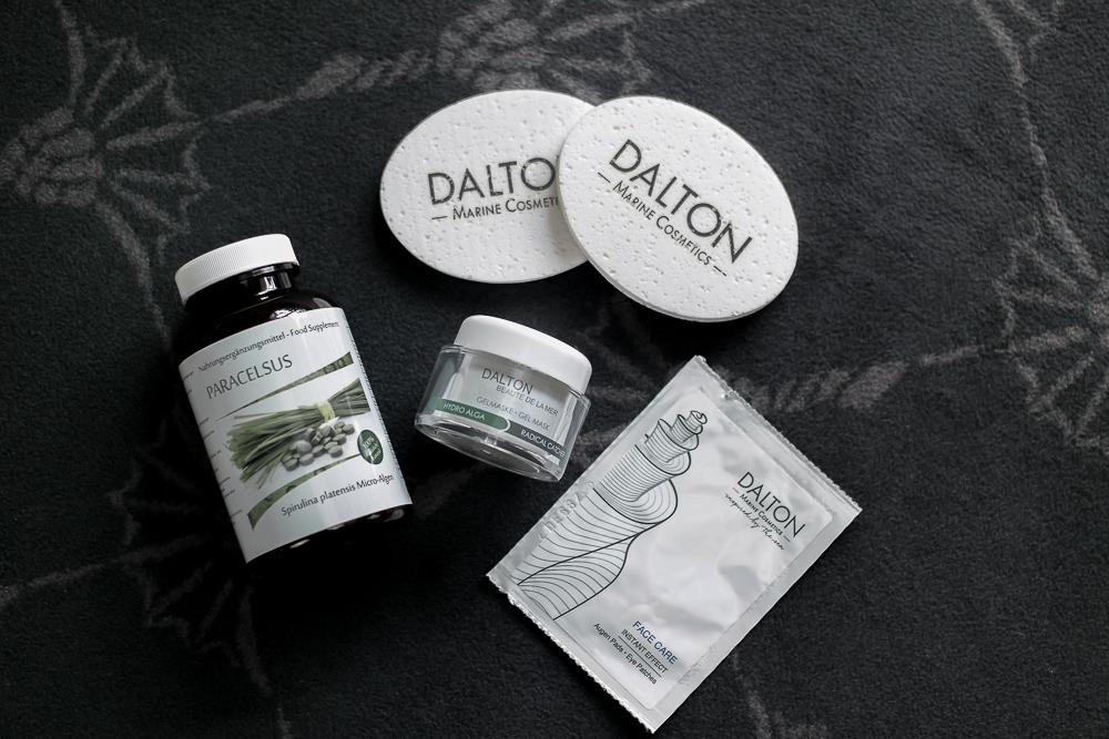 Plege-Feuchtigkeit-Nahrungsergänzung-Dalton Marine Cosmetics-Spirulina Tabletten-Augenpads-Gelmaske