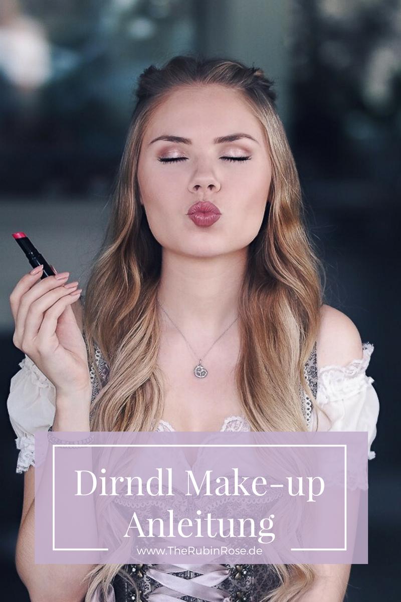 Fashion Blog München-Oktoberfest-Dirndl Make-up Anleitung-Wiesn