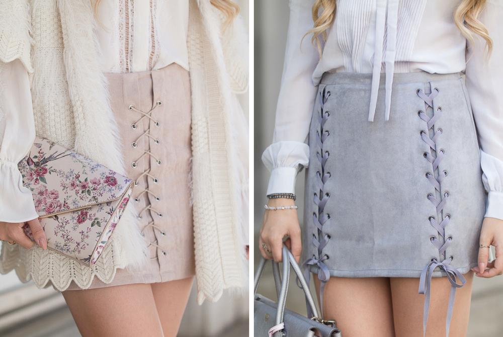 Röcke mit Schnürung kombinieren – 1 Stil, 2 Herbst Looks