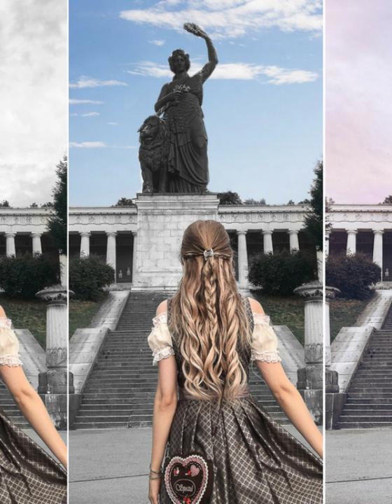 Himmel für Instagram Bilder bearbeiten