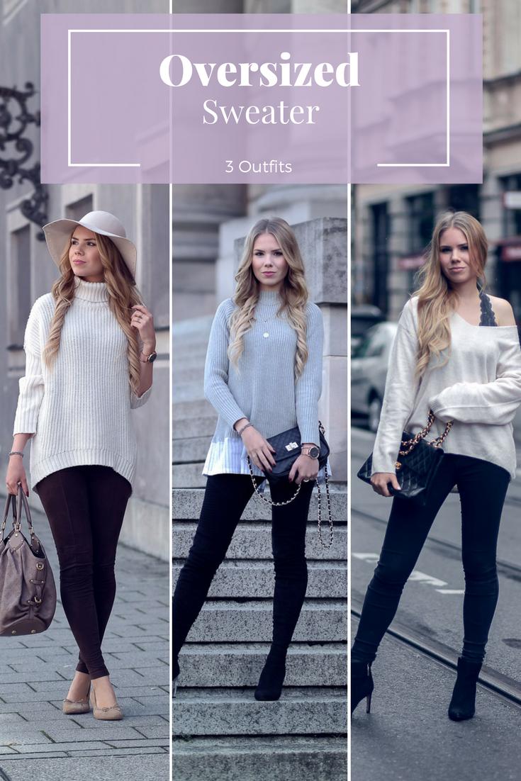 Oversized Sweater-drei Kombinationsmöglichkeiten