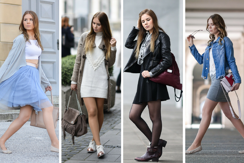 Frühling Outfits 2017-Ballerina Look-Barcelona Outfit-Girly Streetstyle-Pulloverkleid
