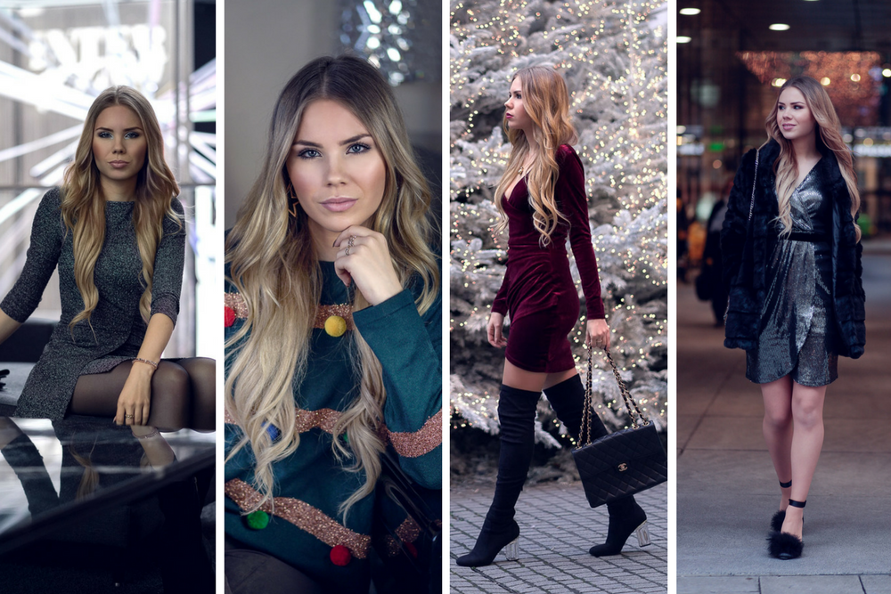 Winter Outfits 2017-Silvester-Weihnachten-Partylook