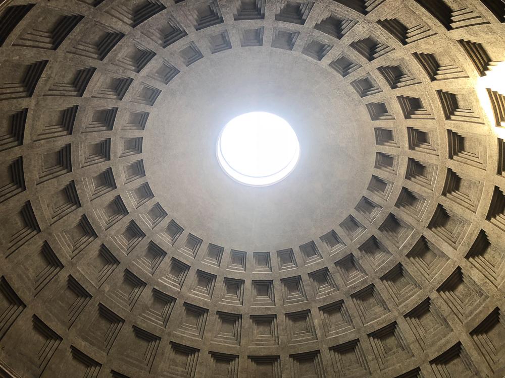Pantheon offenes Dach