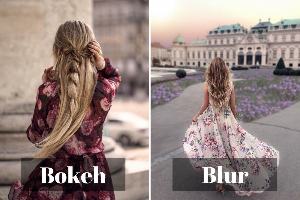 Unterschied Bokeh Blur