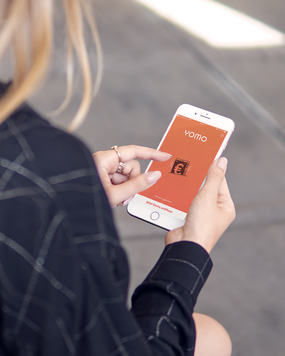 Yomo App Mobile Banking für das Smartphone