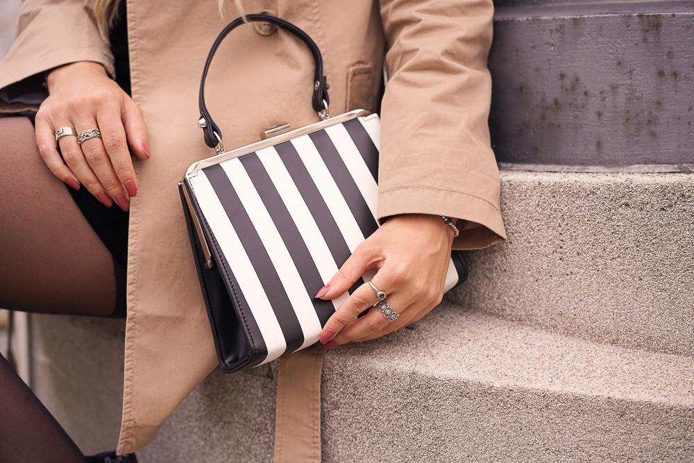 Lola Ramona Vintage Tasche mit Streifen