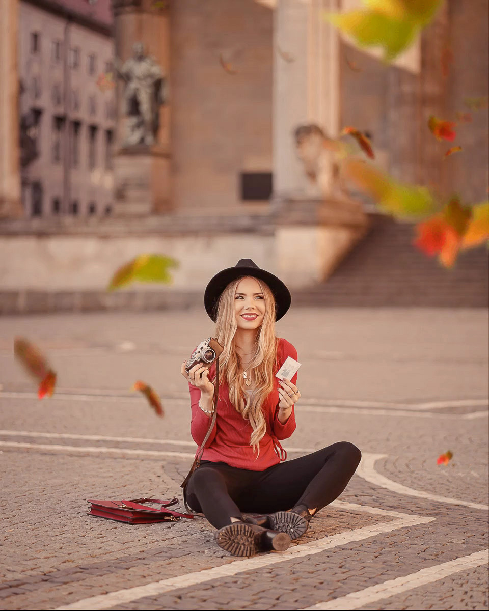 Fallende Herbstblätter Smartphone App Werble