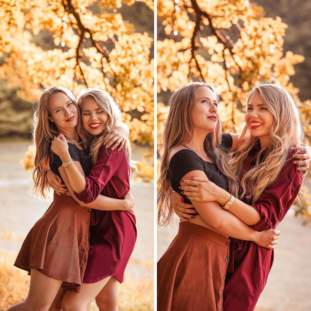Beste Freundinnen Fotoshooting Herbstfotos Ideen