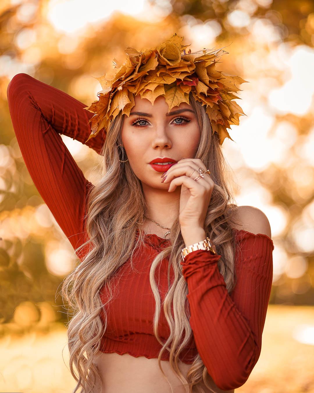 Herbstkrone selber Basteln Anleitung