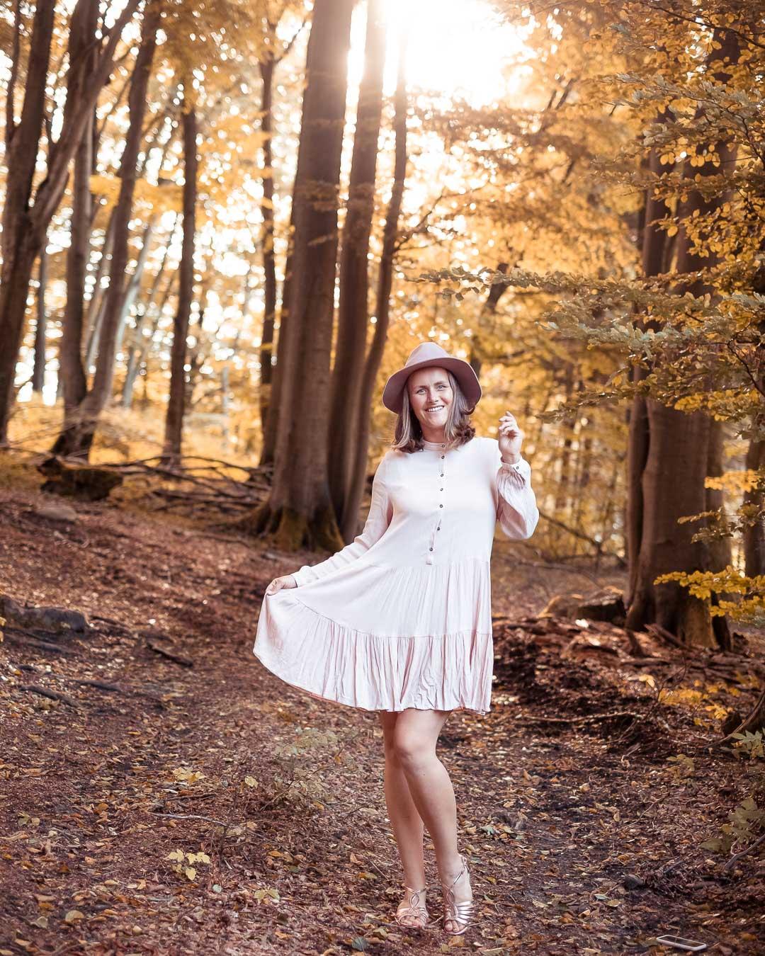 Herbstwald Instagram Fotoidee