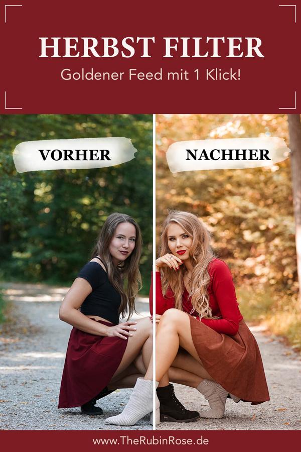 Pinterest Pin Herbstfilter Vorher Nachher Vergleich